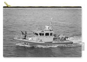 Coast Guard On Patrol In Black And White Carry-all Pouch