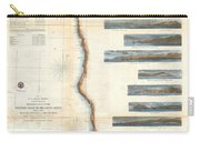Coast Survey Chart Or Map Of California And Oregan North Of San Francisco Carry-all Pouch