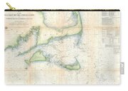 Coast Survey Map Of Cape Cod Nantucket And Marthas Vineyard Carry-all Pouch