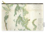 Coast Survey Map Of The Chesapeake Bay  Carry-all Pouch