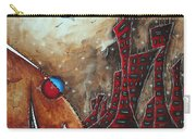 Coastal Abstract Cityscape Art Original City Painting Morning Retreat By Madart Carry-all Pouch