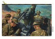 Coastal Battery Scene Artist Terence Cuneo Carry-all Pouch