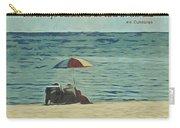 Coastal Beach - E.e. Cummings Sea Quote Carry-all Pouch