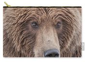 Coastal Brown Bear Closeup Carry-all Pouch