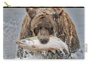 Coastal Brown Bear With Salmon IIi Carry-all Pouch