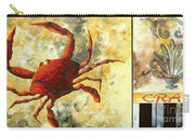 Coastal Crab Decorative Painting Original Art Coastal Luxe Crab By Madart Carry-all Pouch