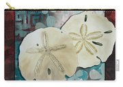 Coastal Decorative Shell Art Original Painting Sand Dollars Asian Influence I By Megan Duncanson Carry-all Pouch