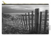 Coastal Dunes In Black And White Carry-all Pouch