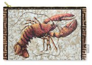 Coastal Lobster Decorative Painting Greek Border Design By Madart Studios Carry-all Pouch