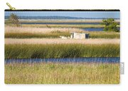Coastal Marshlands With Old Fishing Boat Carry-all Pouch by Bill Swindaman