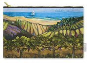 California Coastal Vineyards And Sail Boat Carry-all Pouch