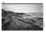 Coastal Rocks Black And White Carry-all Pouch