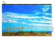Coastal Seashore Beach - Sea Oats And Clouds Carry-all Pouch
