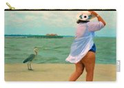 Coastal Seashore Bird Woman - Double Take Carry-all Pouch