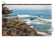 Coastal Sky And Evergreens Carry-all Pouch