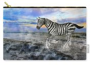 Coastal Stripes I Carry-all Pouch by Betsy Knapp