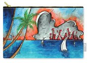 Coastal Tropical Beach Art Contemporary Painting Whimsical Design Tropical Vacation By Madart Carry-all Pouch