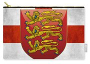 Coat Of Arms And Flag Of England Carry-all Pouch