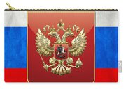 Coat Of Arms And Flag Of Russia Carry-all Pouch