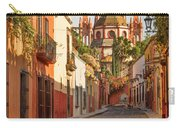 Cobblestone Street In San Miguel De Allende Carry-all Pouch