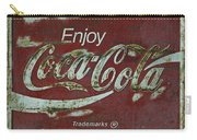Coca Cola Green Grunge Sign Carry-all Pouch