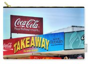Coca-cola - Old Shop Signage Carry-all Pouch by Kaye Menner