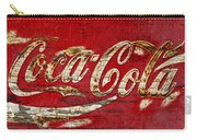 Coca Cola Sign Cracked Paint Carry-all Pouch