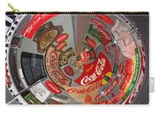 Coca Cola Signs In The Round Carry-all Pouch