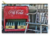 Coca Cola Vintage Cooler And Rocking Chair Carry-all Pouch