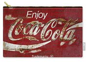 Coca Cola Wood Grunge Sign Carry-all Pouch