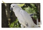 Cockatoo White Parrot Carry-all Pouch