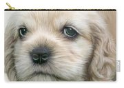 Cocker Pup Portrait Carry-all Pouch by Carol Cavalaris