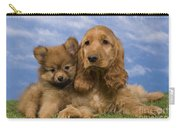 Cocker Spaniel And Pomeranian Carry-all Pouch