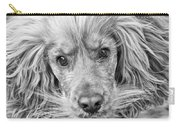 Cocker Spaniel Dog Black And White Carry-all Pouch