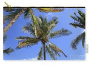 Cocoanut Palm Trees Sky Background Carry-all Pouch