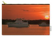 Cabin Cruiser And Red Sunset Over Harbour Carry-all Pouch