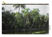 Coconut Trees And Other Plants Lined Up Carry-all Pouch