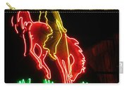 Cody Wyoming Neon Lounge Sign At Night Carry-all Pouch