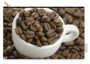Coffe Beans And Coffee Cup Carry-all Pouch