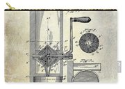 Coffee Mill Patent 1893 Carry-all Pouch