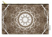 Coffee Flowers 1 Ornate Medallion Carry-all Pouch