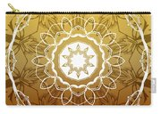 Coffee Flowers 1 Ornate Medallion Calypso Carry-all Pouch