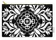 Coffee Flowers 10 Bw Ornate Medallion Carry-all Pouch