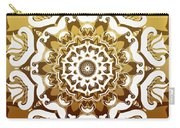 Coffee Flowers 10 Calypso Ornate Medallion Carry-all Pouch