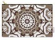 Coffee Flowers 10 Ornate Medallion Carry-all Pouch by Angelina Vick
