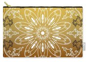 Coffee Flowers 11 Calypso Ornate Medallion Carry-all Pouch