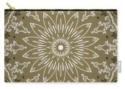 Coffee Flowers 11 Olive Ornate Medallion Carry-all Pouch