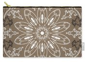 Coffee Flowers 11 Ornate Medallion Carry-all Pouch