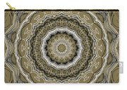 Coffee Flowers 2 Ornate Medallion Olive Carry-all Pouch