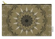 Coffee Flowers 3 Olive Ornate Medallion Carry-all Pouch